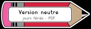 Version neutre jours fériés PDF